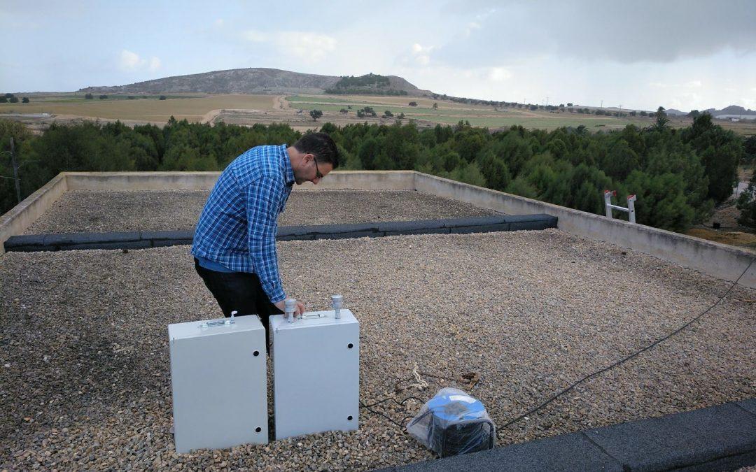 Instalação de captadores de partículas PM10 y PM2.5 em Murcia