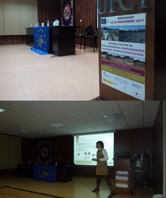 """Presentación del Proyecto Soil Take Care en el Workshop """"Rehabilitación de emplazamientos contaminados mediante técnicas biológicas"""""""
