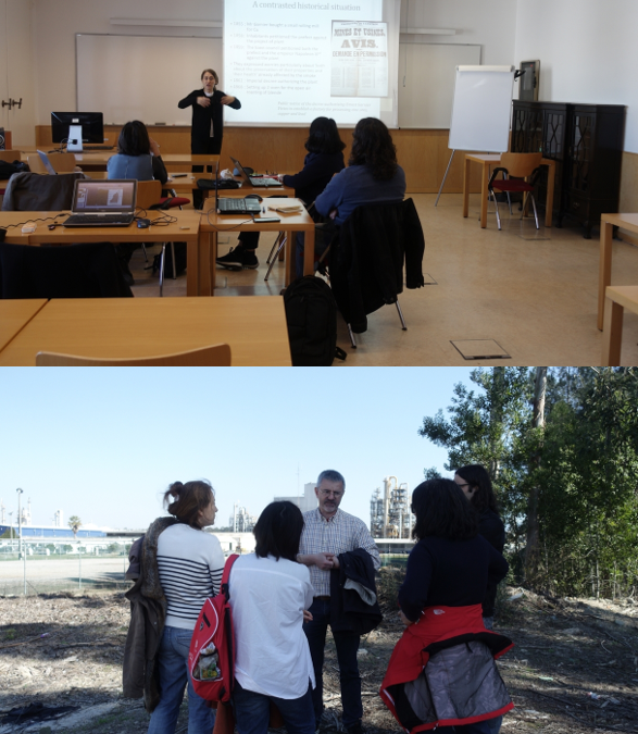 Workshop organisé par les partenaires à Lisbonne et visite du complexe chimique d'Estarreja pour déterminer l'impact du risque sur la population