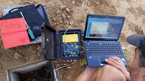 Campagne d'examen des équipements et téléchargement des données à La Unión