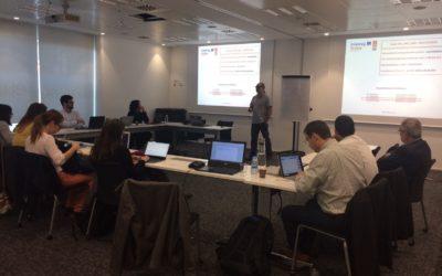 Reunión de consorcio en Barcelona para repasar los avances técnicos y planificar los próximos pasos técnicos y administrativos del proyecto